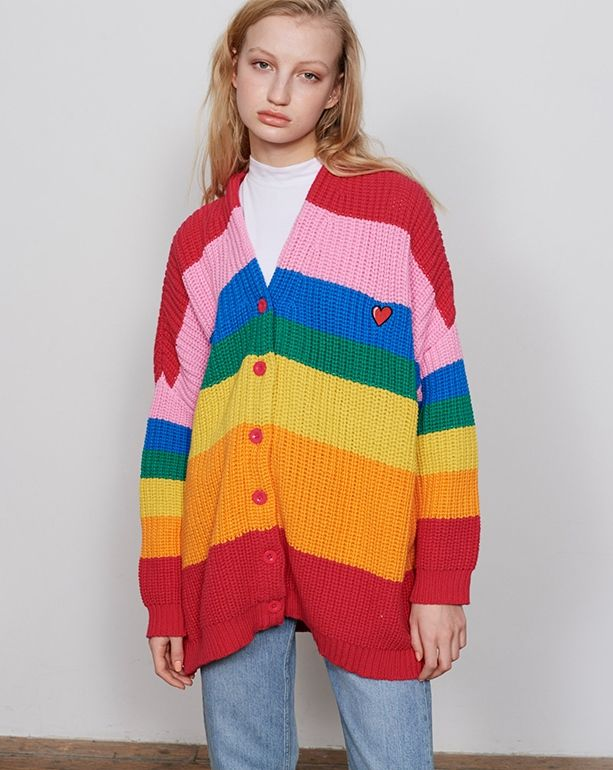 e0be7d911964 Lazy Oaf Rainbow Cardigan - Jumpers - Categories - Womens
