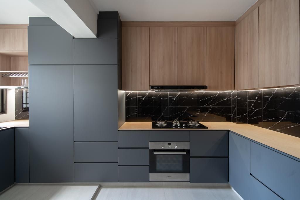 Check Out This Industrial Style Hdb Kitchen And Other Similar Styles On Qanvast In 2020 Kitchen Room Design Kitchen Interior Interior Design Kitchen