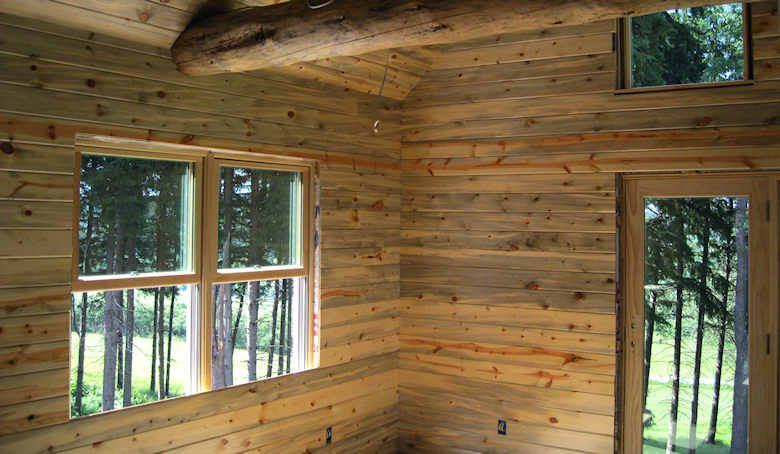 Blue Stained Pine Wood Paneling Home House Inspiration