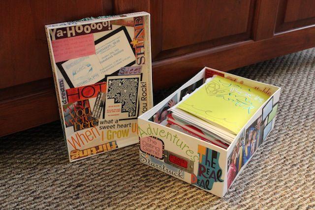 Modge Podge Love Letter Storage Box