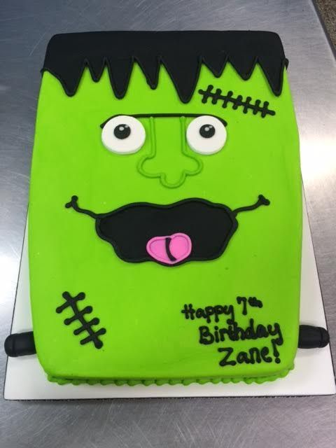 Frankenstein Birthday Cake Adrienne Co Bakery Little Boy