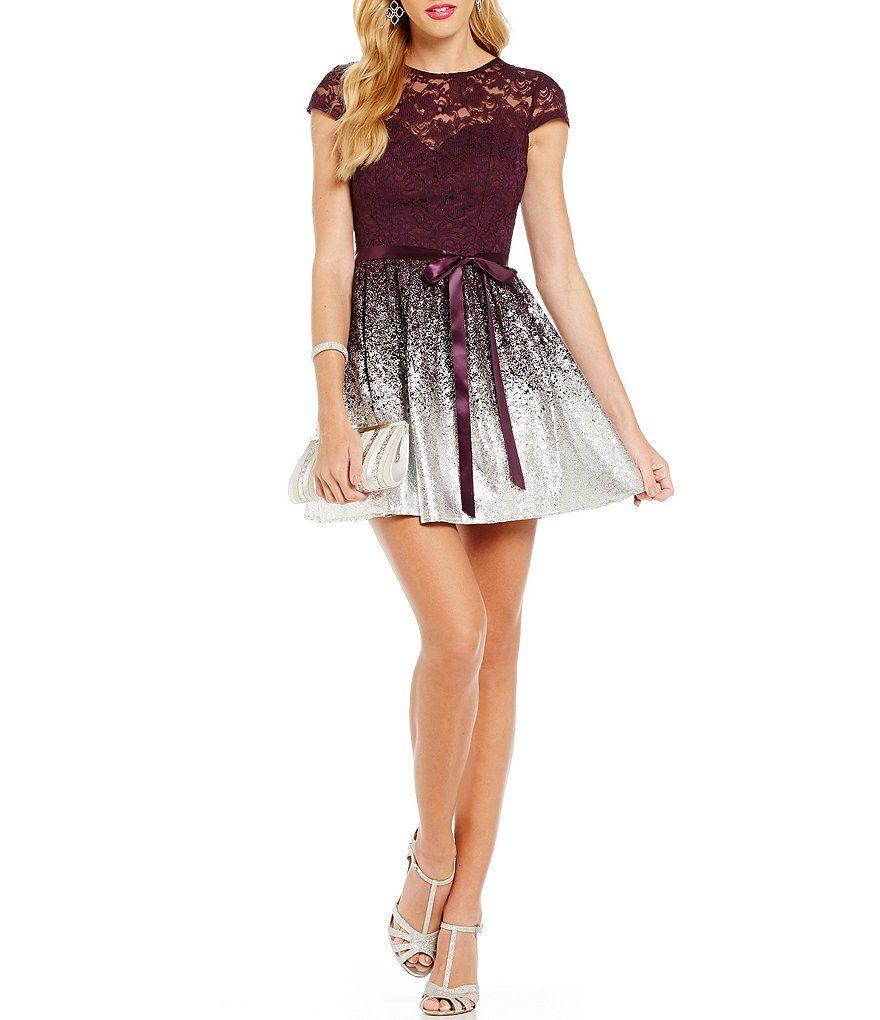 B darlin mint lace dress