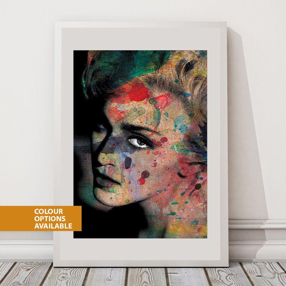 Free postage madonna print fashion icon iconic women iconic art print