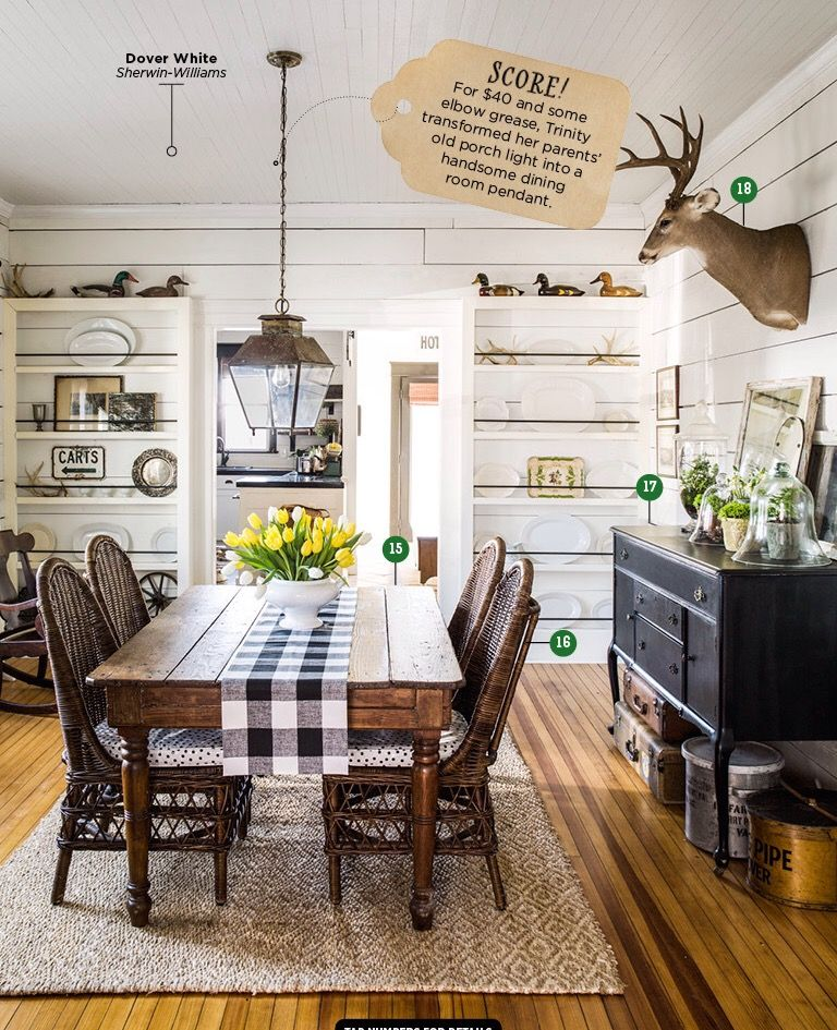 Trinity unloaded this antique farm table from a friend for several hundred  dollars. Only five feet long, its an ideal fit for the pass-through dining  room. - Pin By Jana Hortman On Home Decor Pinterest Farmhouse Dining