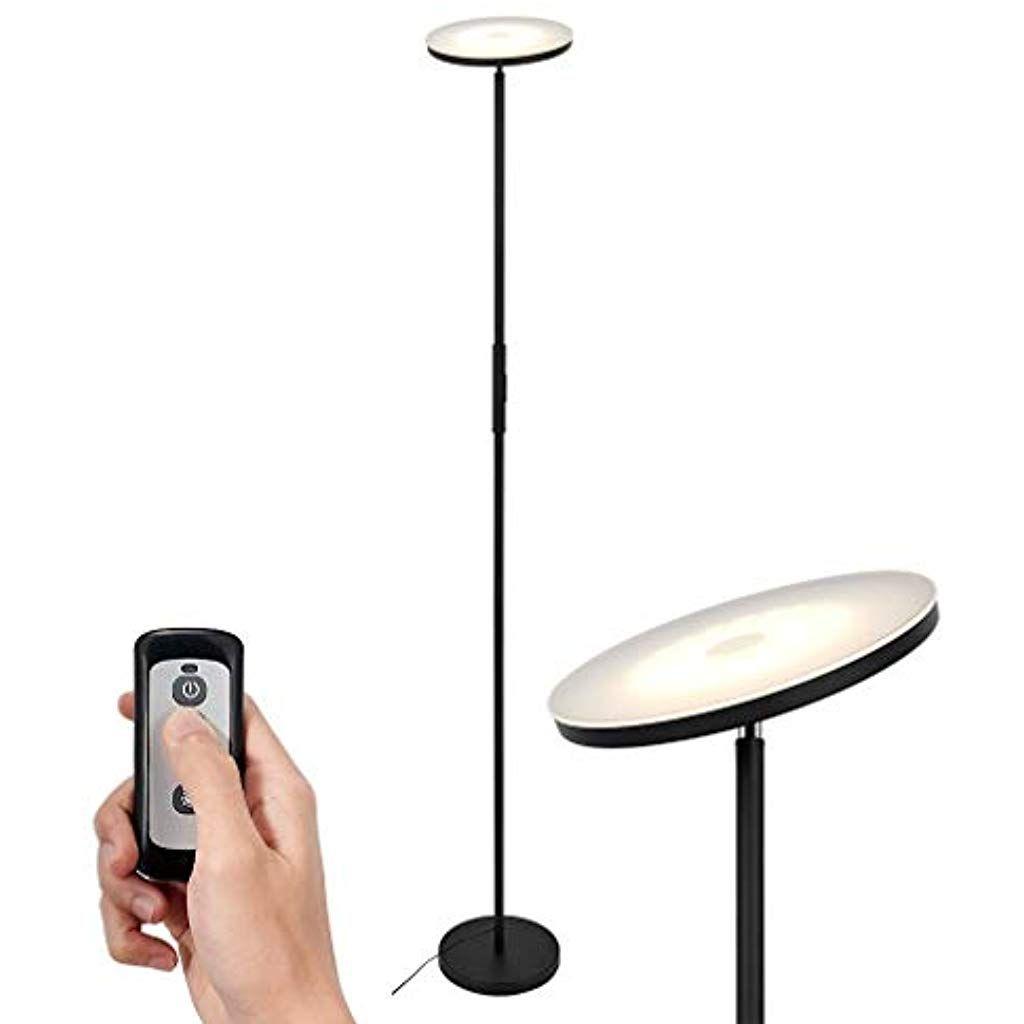Simplehome Schwarzer Led Deckenfluter 20w Moderne Led Stehlampe