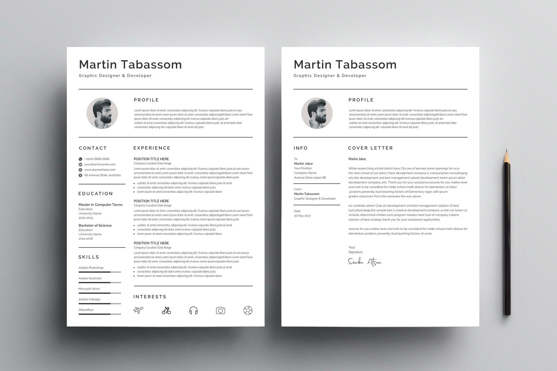 Simple Resume Design Template - Resume design template, Resume design, Simple resume design, Simple resume, Design template, Templates - Simple Resume Design Template  The perfect way to make the best impression  Strong typographic structure and very easy to use and customize  The resume design