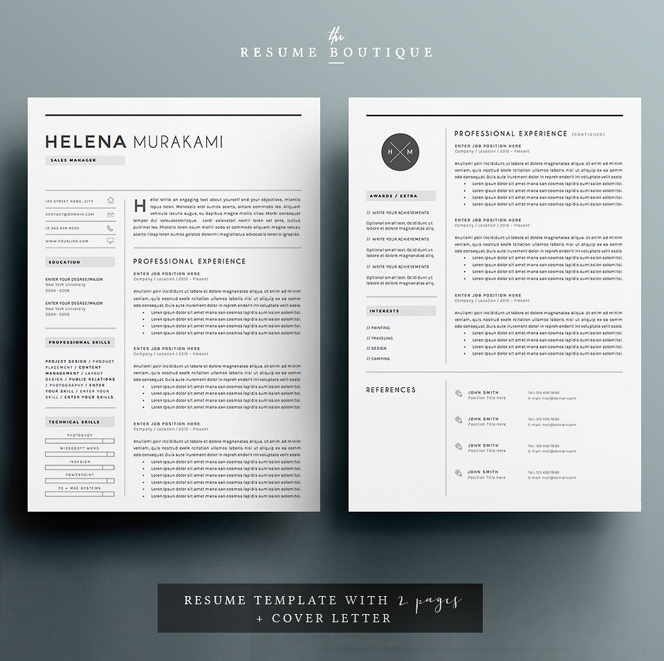 Resume Templates For Pages Resume Template 4 Pages  Simplifier  Resumes  2  Graphic