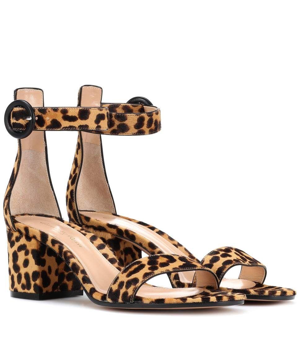Gianvito Rossi Versilia 60 leopard-printed sandals EmqVNM