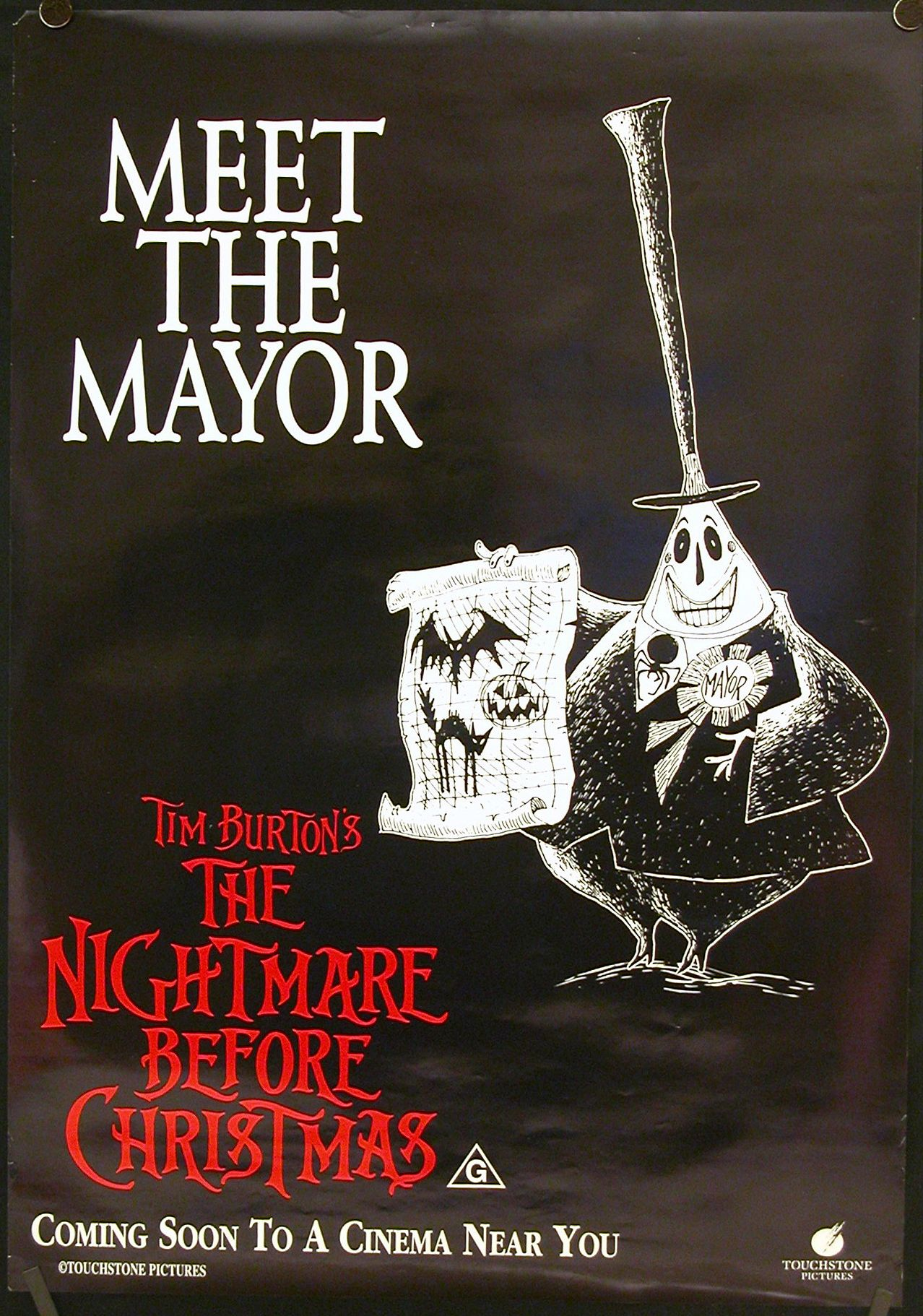 TB069. Meet The Mayor / The Nightmare before Christmas / Movie ...