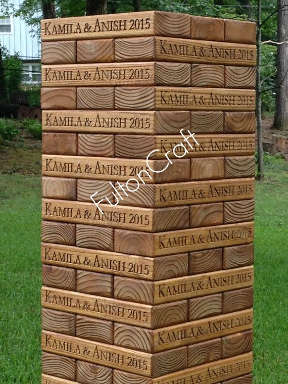 Custom Carved and Stained Giant Tumbling Blocks by FultonCraft