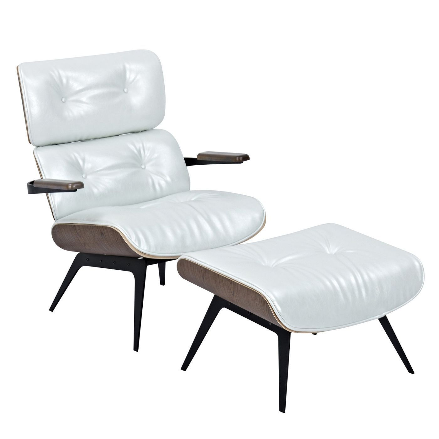 Cool Eames Inspired Lounge Chair And Ottoman Pearl White Gmtry Best Dining Table And Chair Ideas Images Gmtryco