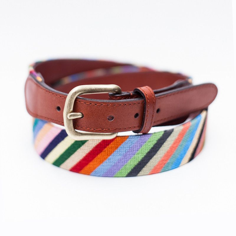 Needlepoint Belt Mens Fashion Belt