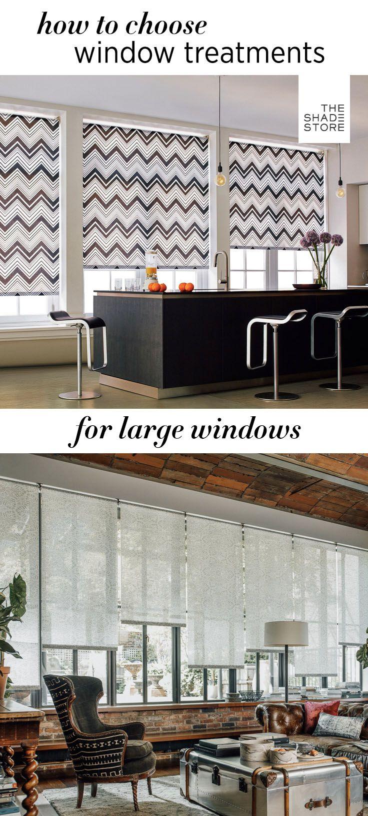 Window treatments for large windows solar shades solar and window
