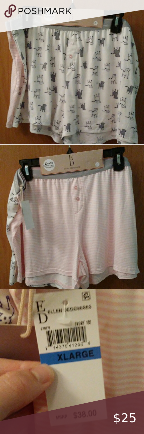 Ed Lady Boxers In 2020 Pink And White Stripes Lady Boxer