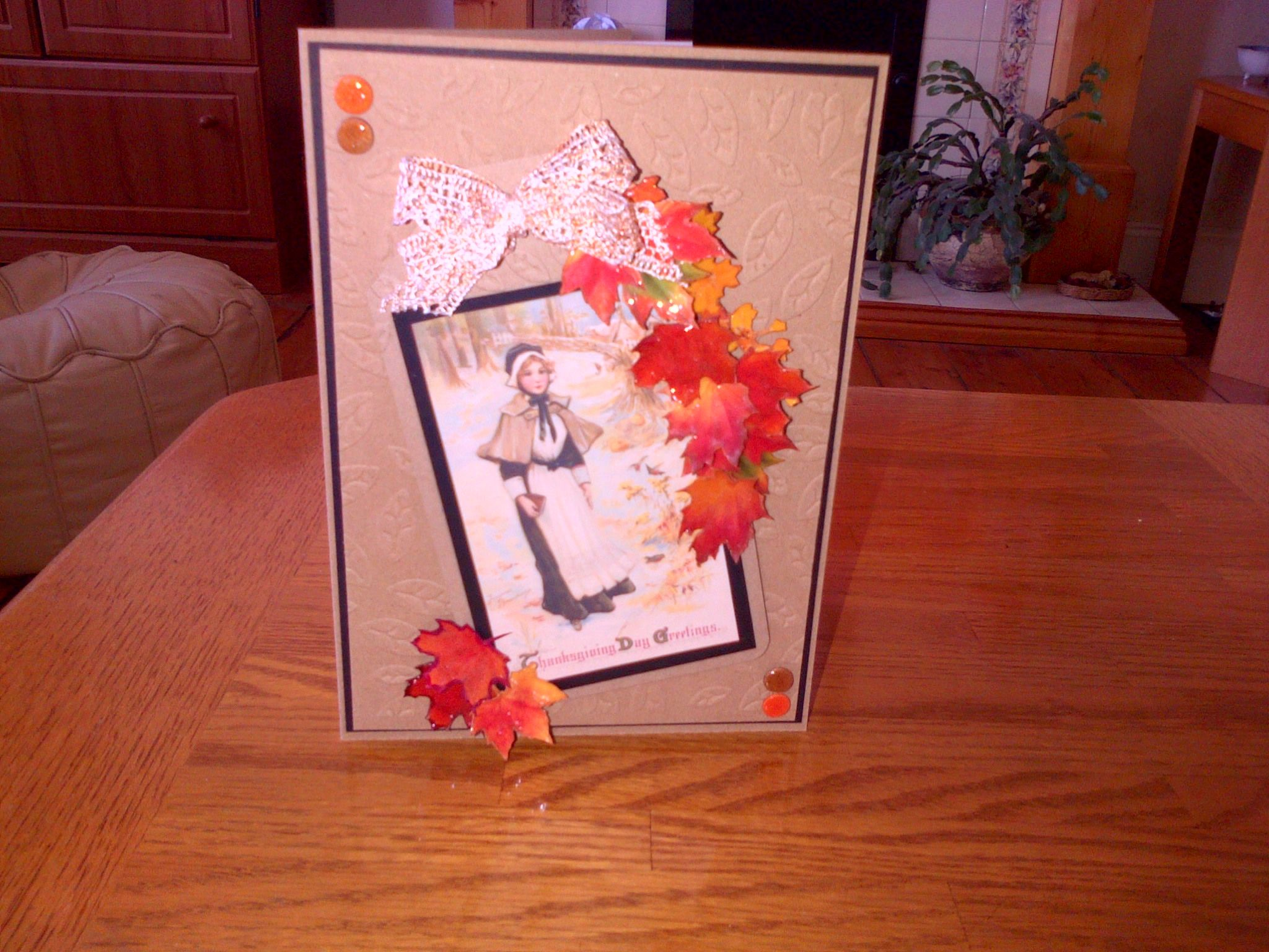 A Thanksgiving card made for a friend.