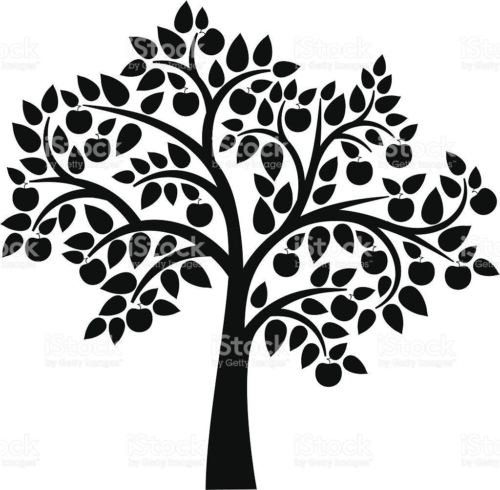 Decorative Apple Tree Tree Icon Tree Svg Tree Silhouette