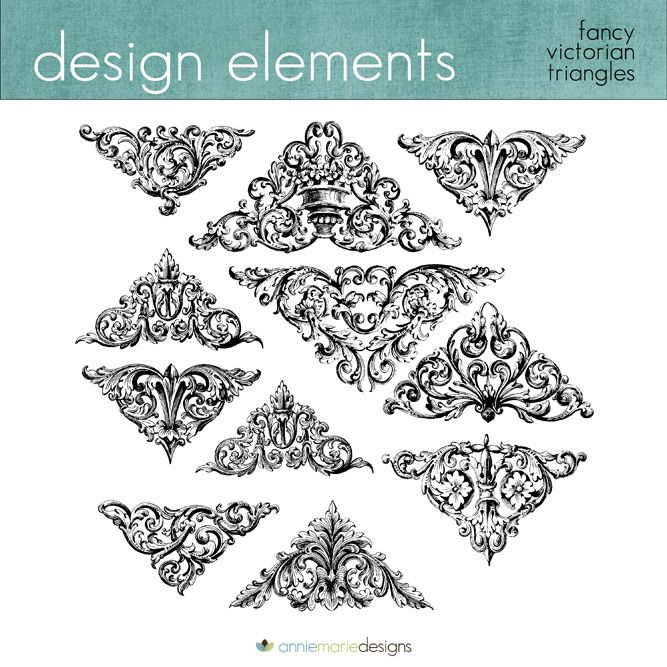 Victorian Design Elements design elements, scrolls, victorian shapes, fancy shapes