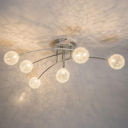 Deckenleuchte Foam 6 chrom #Deckenlampe #Lampe #Innenbeleuchtung - moderne wohnzimmerlampe