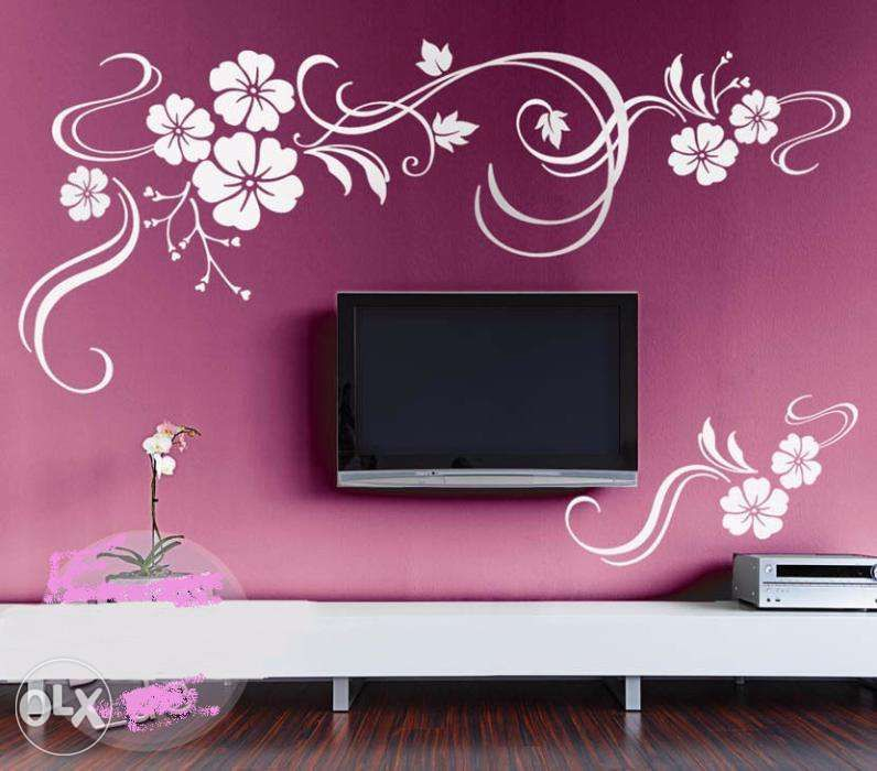 Paint polish 500 room paint design 39 living room 39 bed room for Wall patterns for living room