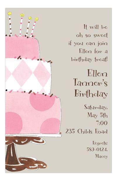 cake time girls pinterest invitations birthday party