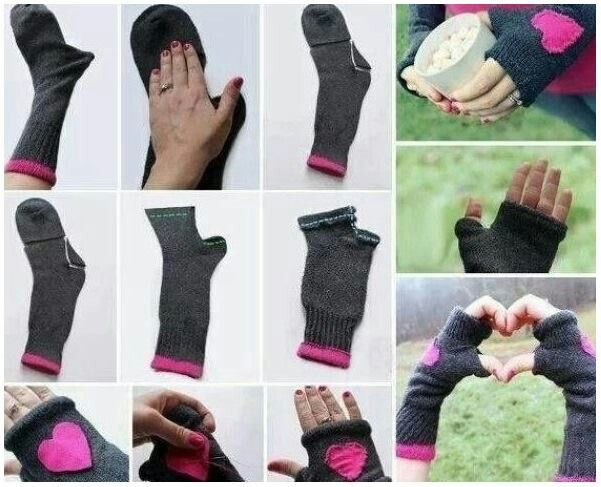 Neat use for old socks...if they aren't too dirty!