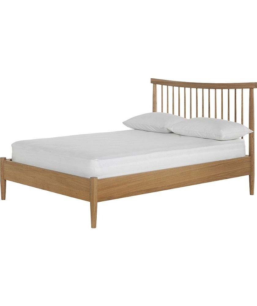 Buy Heart of House Dorset Spindle Double Bed Frame - Oak at Argos.co ...