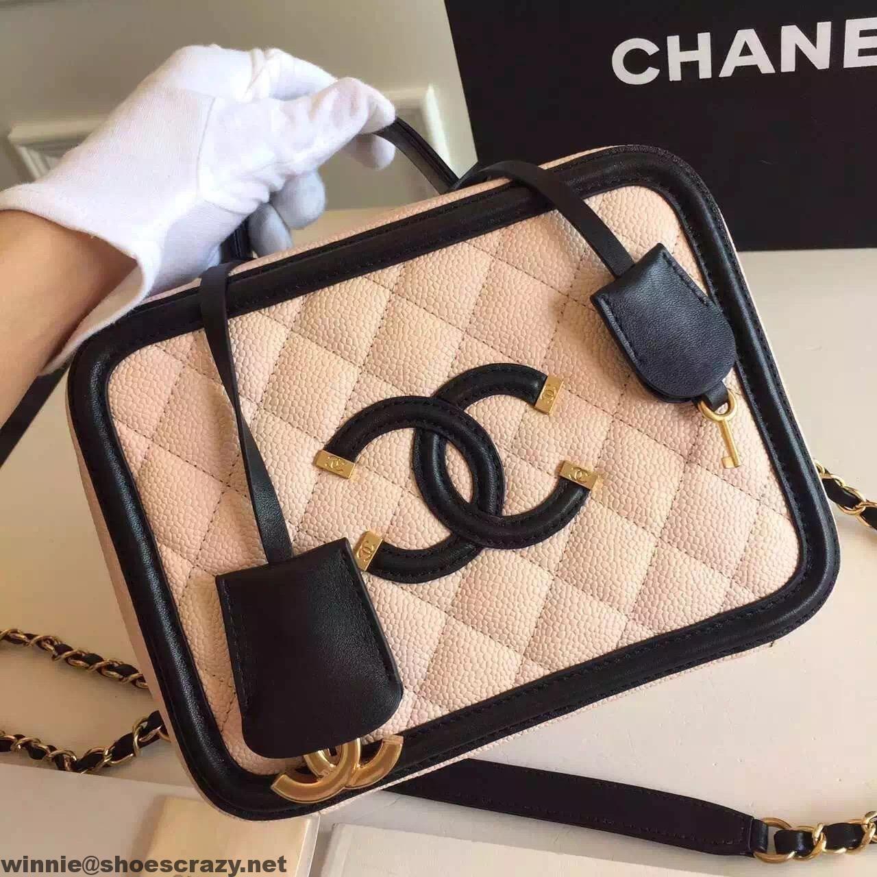 chanel vanity case. chanel cc filigree small vanity case bag
