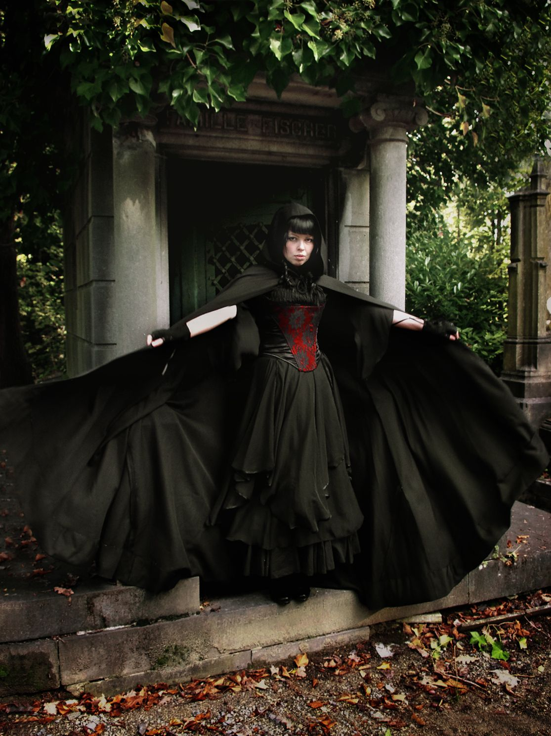 Gothic Neo Victorian Dress And Cape On This Goth Girl
