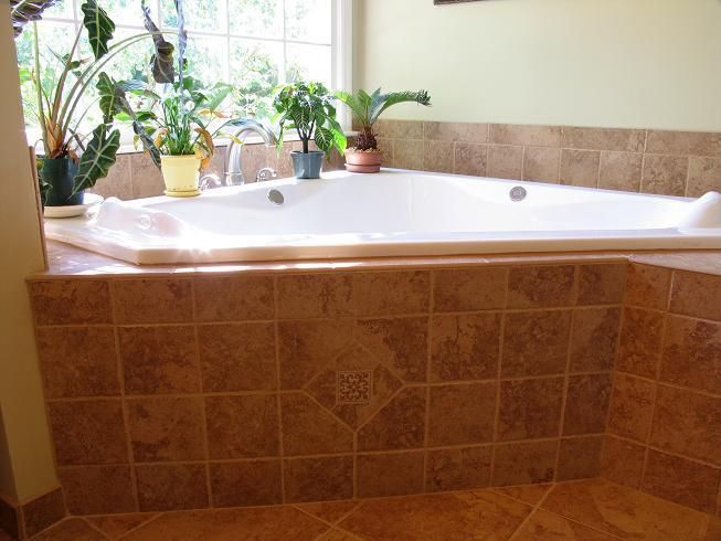 Garden Tub Tile Ideas | Tub garden master bath tile | Decorating ...