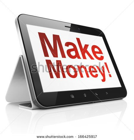 Business concept: black tablet pc computer with text Make Money! on ... It seems interesting, take a look
