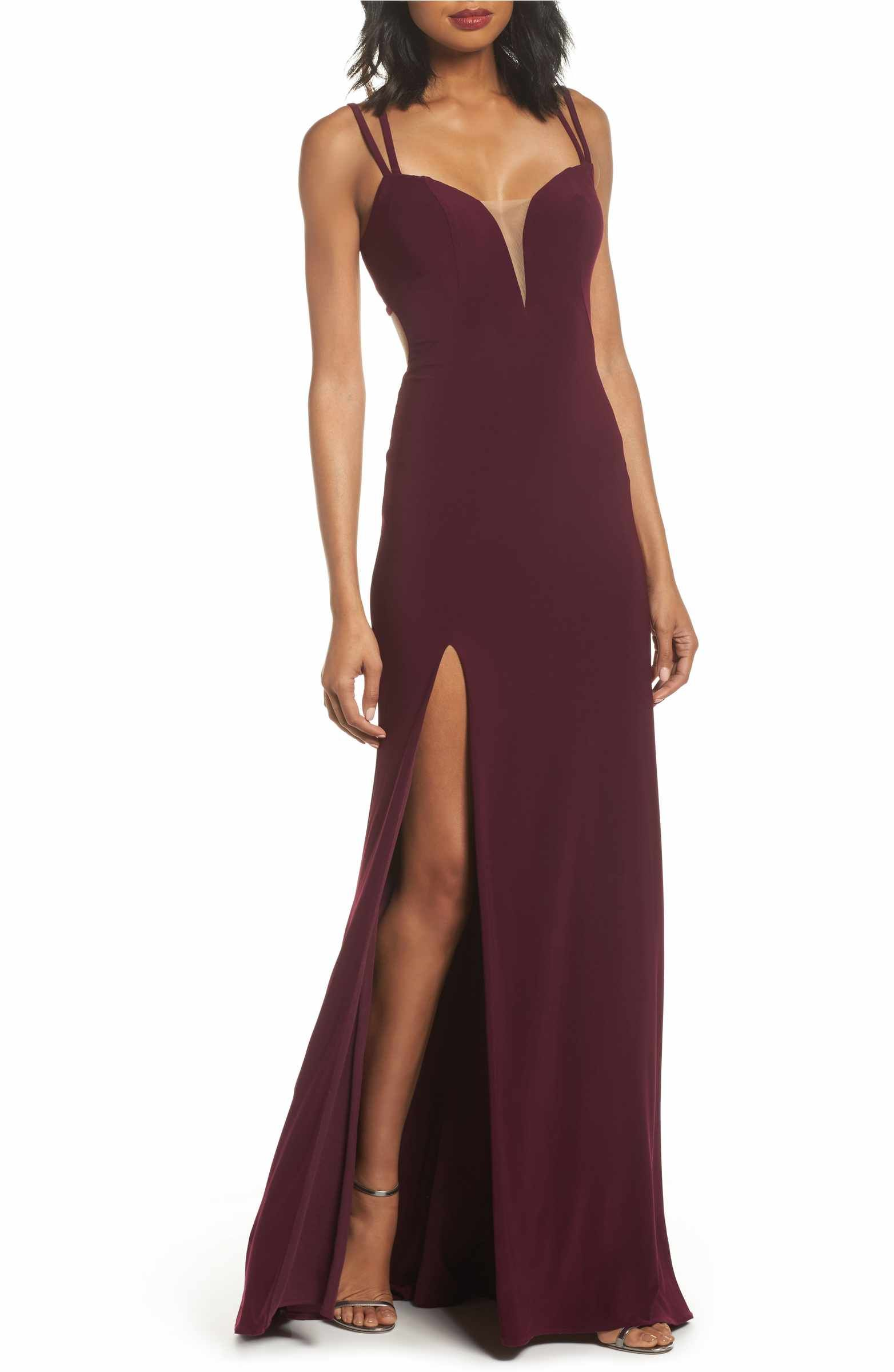 Main image la femme open back jersey gown super casual and super