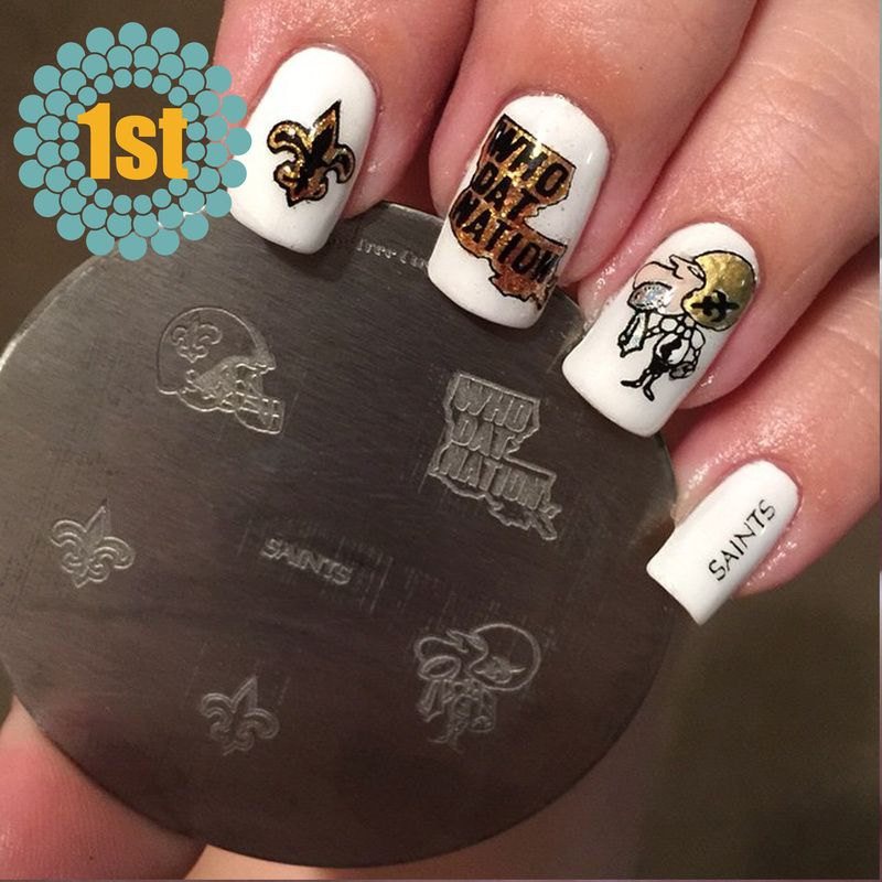 New Orleans Saints Nail Art | Best Nail Designs 2018
