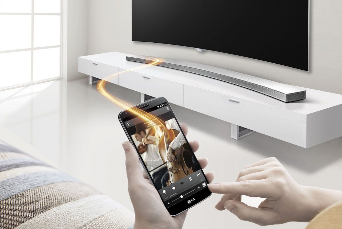 Heres a curved lg sound bar to go with your curved lg tv