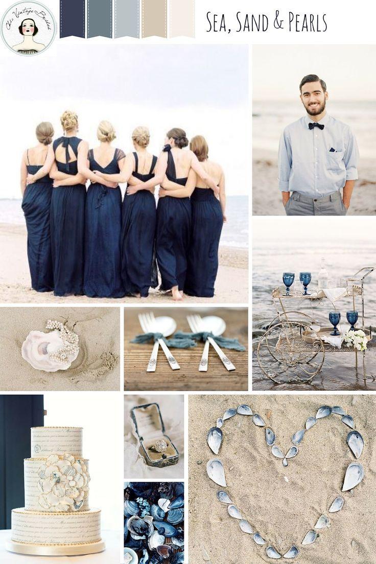 Romantic beach wedding inspiration in dreamy shades of blue beach