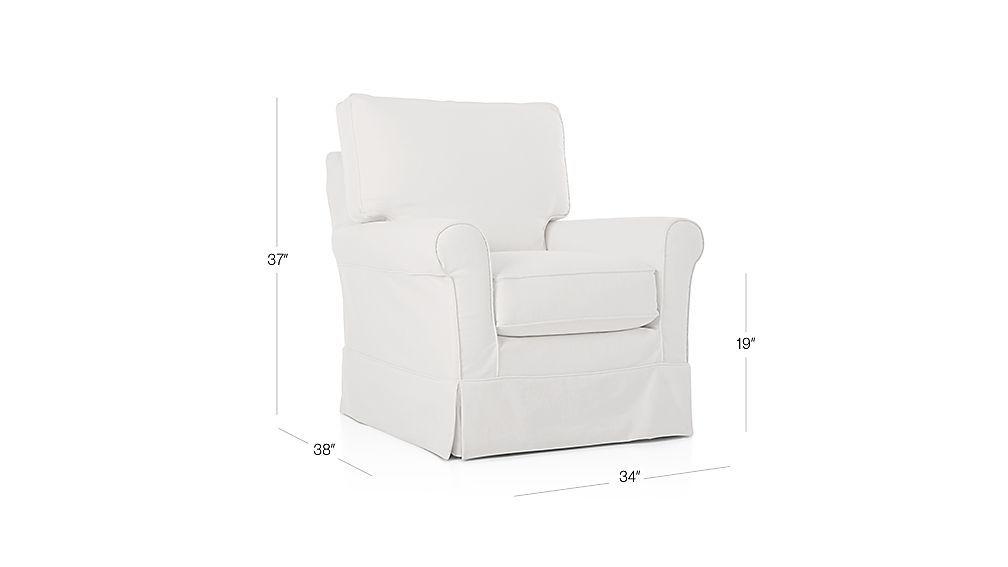 Harborside Slipcovered Swivel Glider Slipcovers For Chairs Swivel Glider Chair
