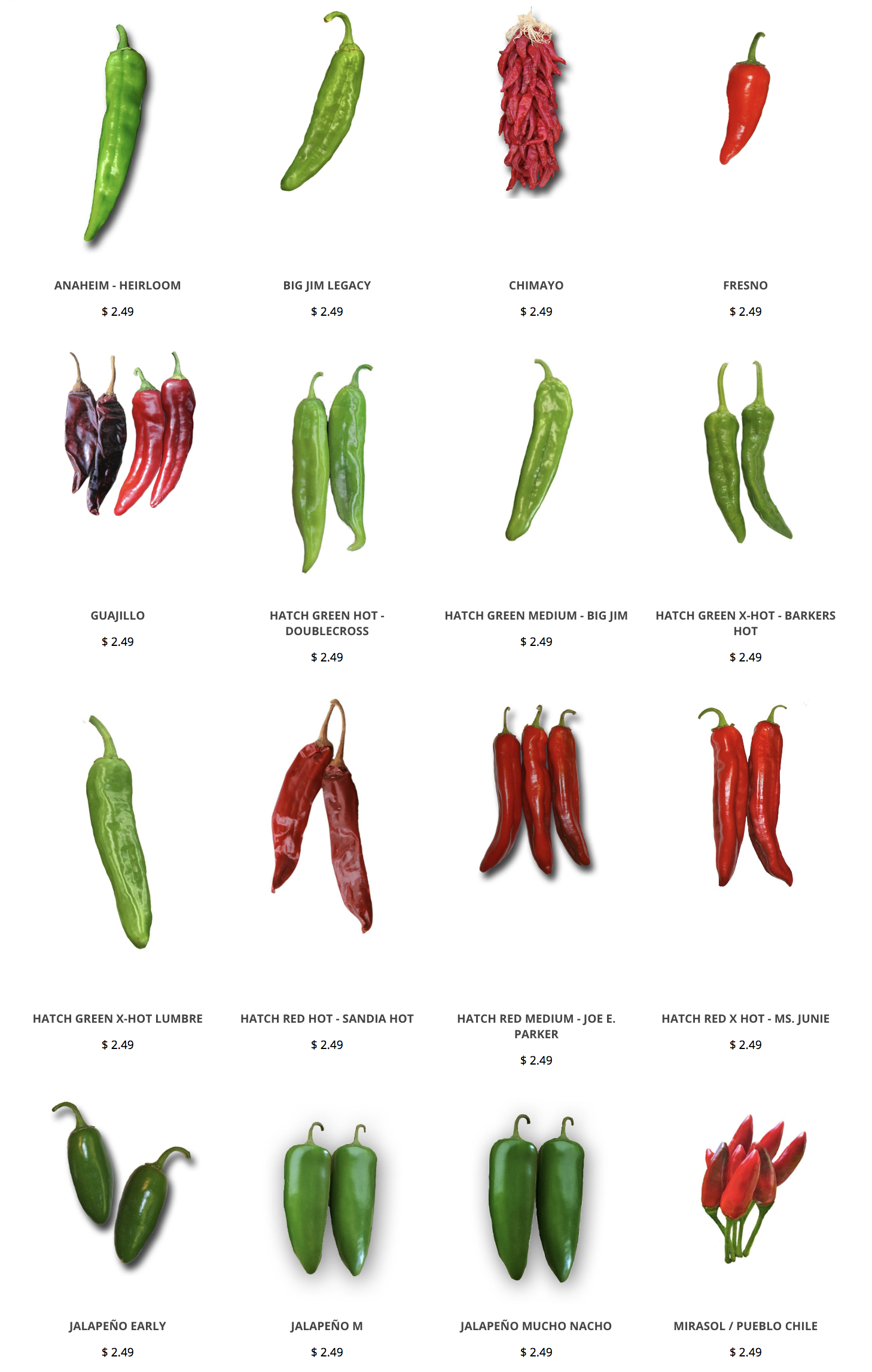 Hatch Chile Seeds Gren Chile Seeds Red Chile Seeds Https Www