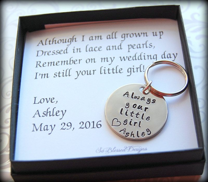 Father of the Bride Keychain, Gift for Father of the Bride ...