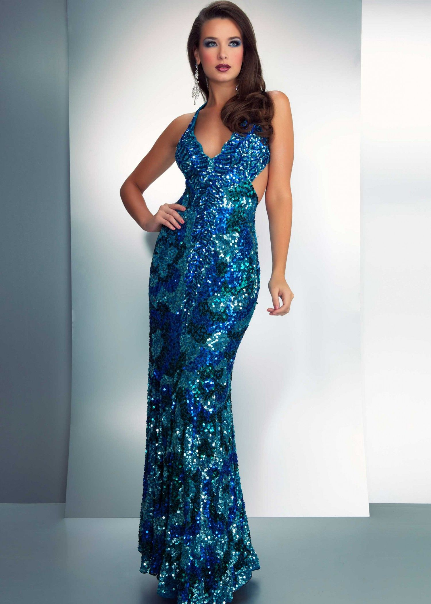 Cassandra stone by mac duggal peacock evening gown
