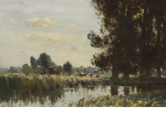 Edward Seago, R.W.S. (1910-1974) 'A Suffolk Stream' 51 x 76cm (20 x 30in).