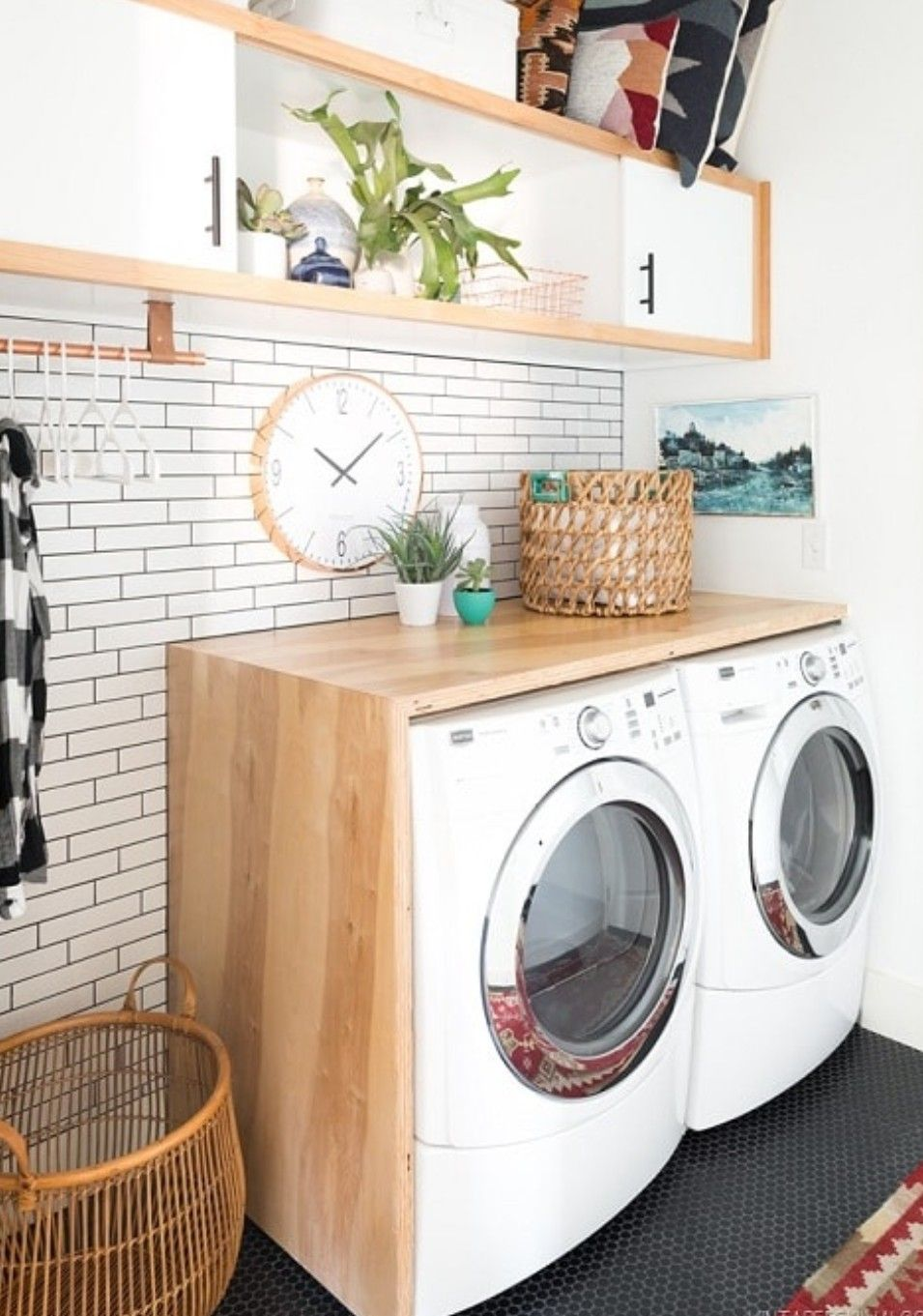 Holz Verkleidung Der Waschmaschine