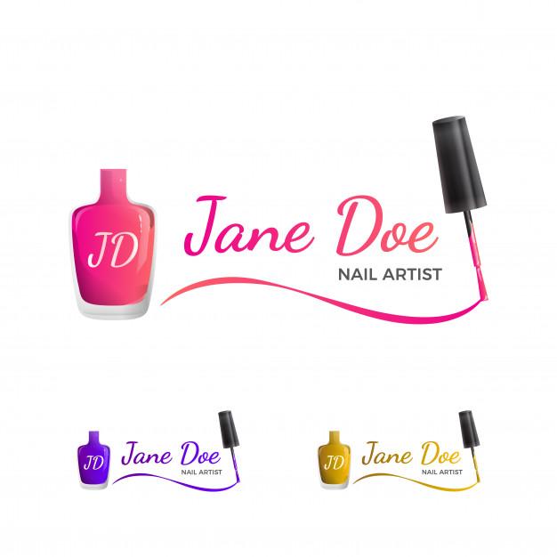 Nail Art Logo Logotipo de arte, Como criar uma logomarca