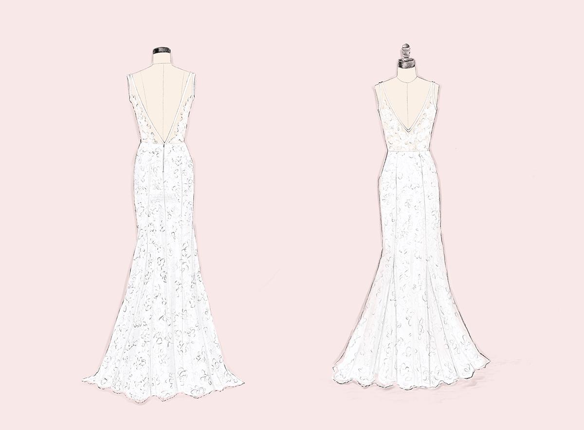 Custom Sketch Dresses Dress Anomalie Wedding Dresses
