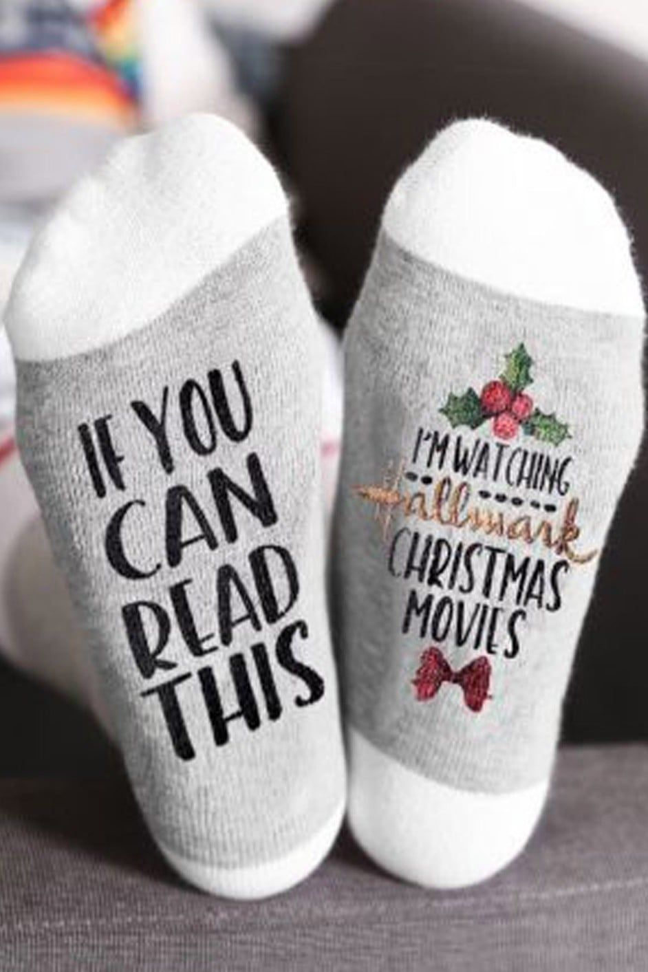 Constantly Watching Hallmark Movies These Festive Socks Are For You Hallmark Christmas Movies Hallmark Christmas Christmas Movies
