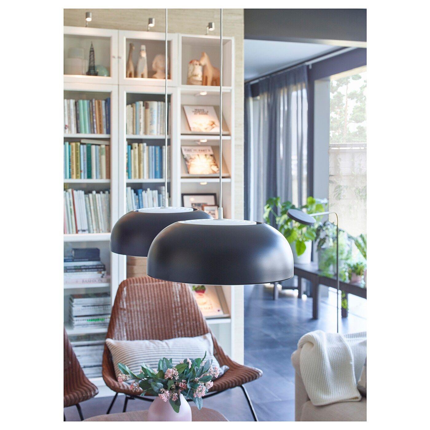 Nymane Pendant Lamp Anthracite Ikea In 2020 Pendant Lamp Rooms Home Decor Ikea