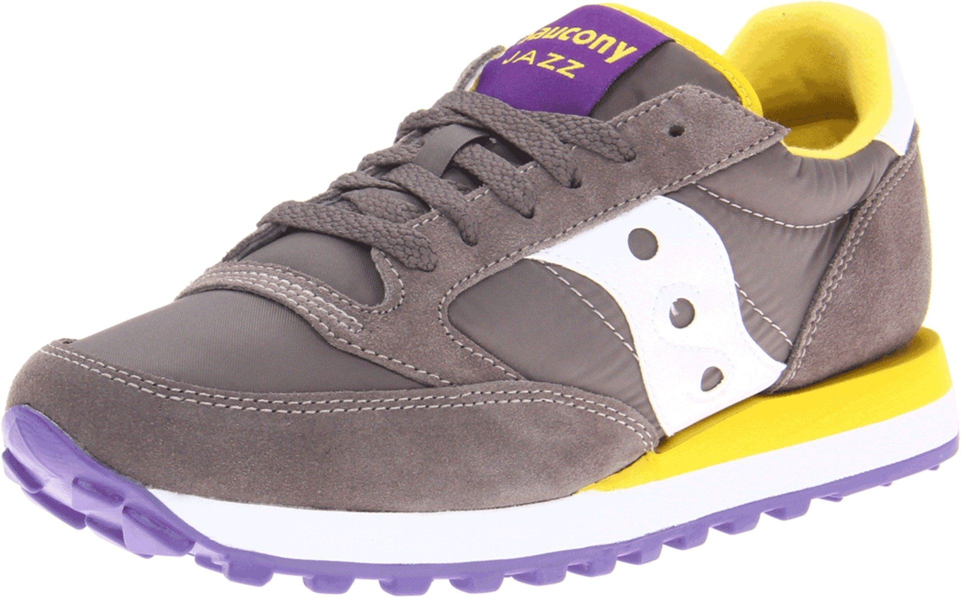 c09deee9d7 SNEAKER SAUCONY JAZZ ORIGINAL GRIGIO/VIOLA/GIALLO: Amazon.it: Scarpe ...