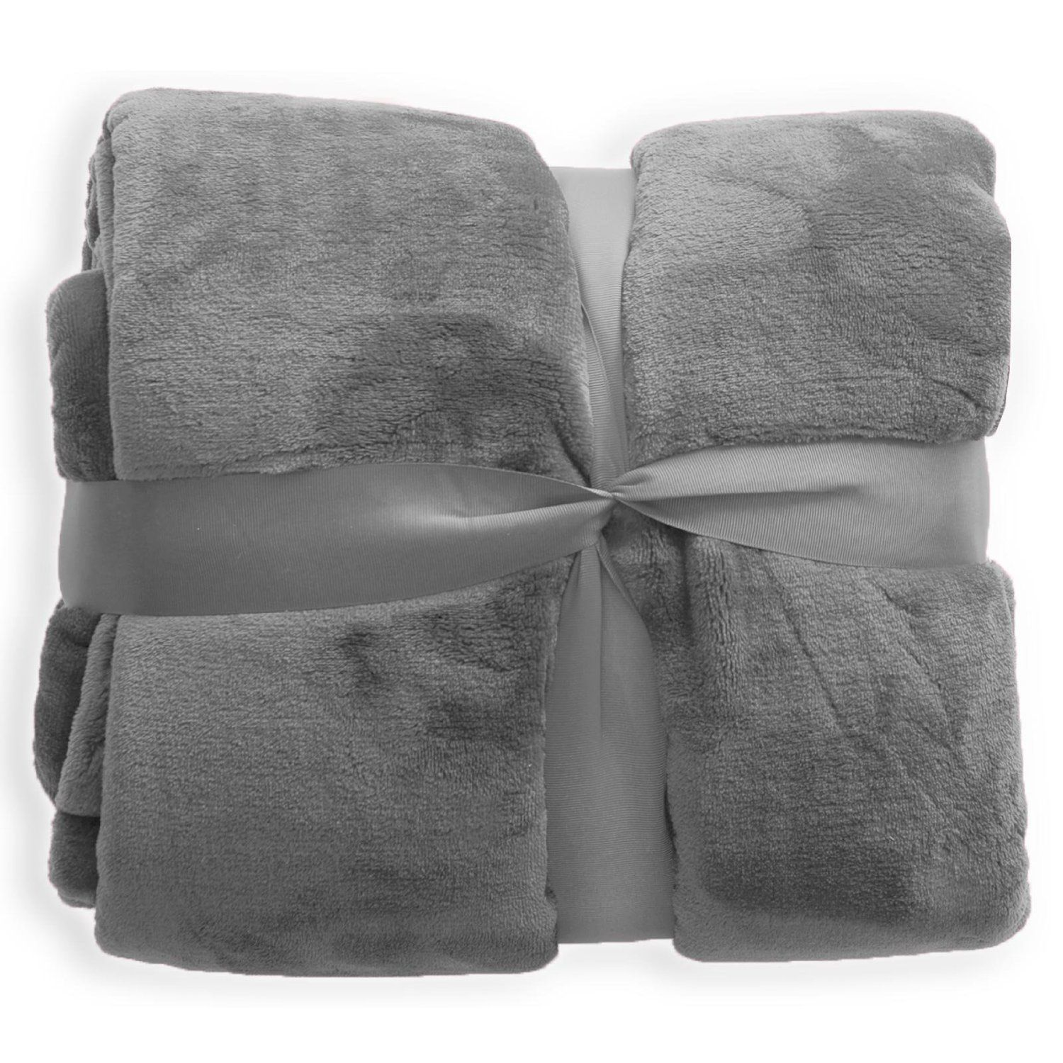 Casa Pura Mink Faux Fur Throw Grey 200 X 220 Cm Extra Large Sofa Bed Blanket 2 Sizes Available Co Uk Kitchen Home