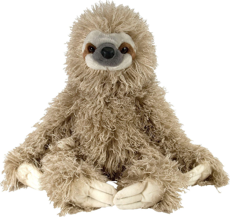 Wild Republic Cuddlekin ThreeToed Sloth Stuffed Animal in