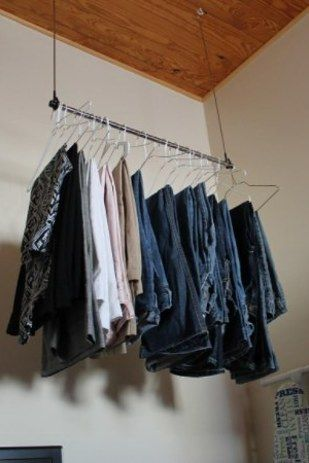 Double Your Closet Space (or Create Your Own Hanging Closet) With An  Extender Rod
