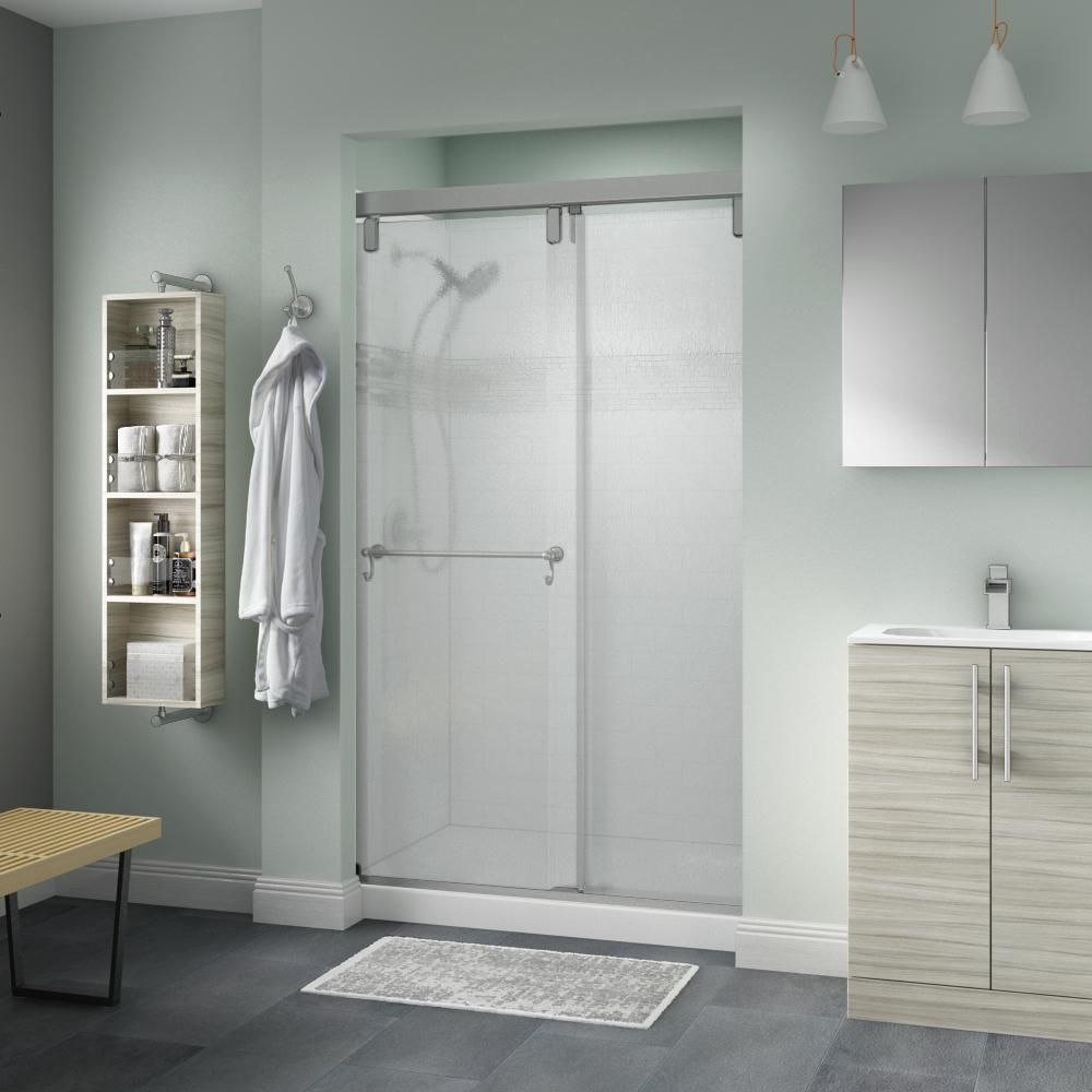 57 1 2 60 W X 76 H Sliding Shower Door Ultra H In 2020 Frameless Shower Doors Shower Doors Bathtub Doors