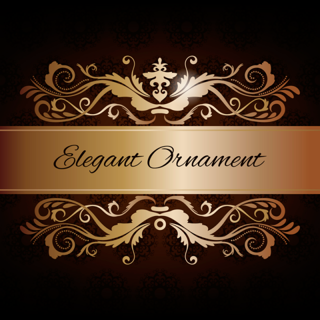 Floral Beautiful Ornament Frame Frame Gold Background Png